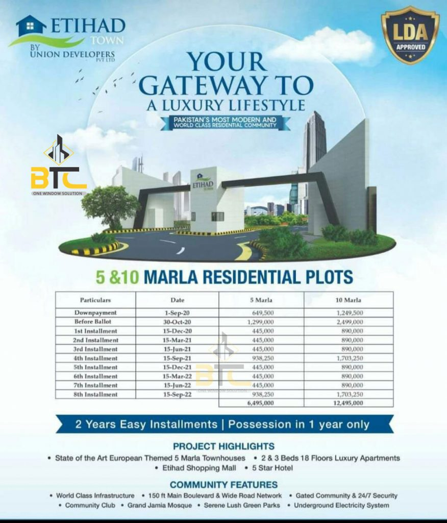 Etihad Town Phase 2 Residential Payment Plan
