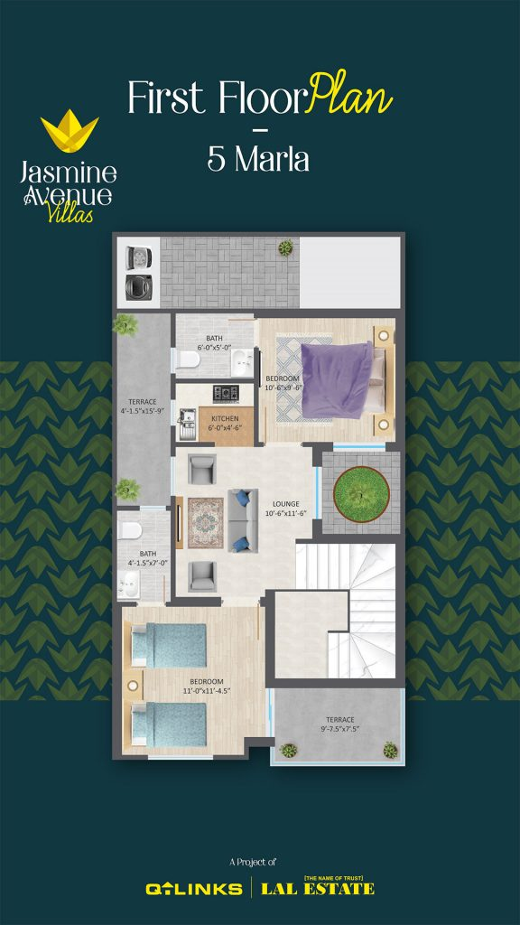 Jasmine Avenue Villas Floor Plan - First Floor