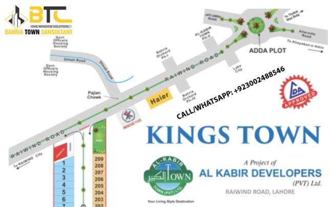 Kings Town Raiwind Road Lahore Location Map